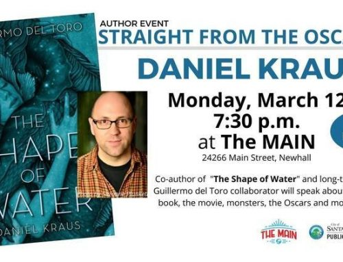 'The Shape of Water' Author Daniel Kraus to Speak at Event Hosted by the Santa Clarita Public Library