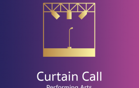 curtain call performing arts logo